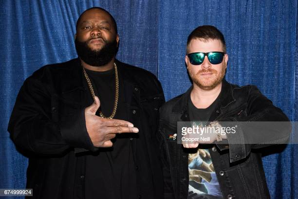 Killer Mike and ElP of Run The Jewels pose for a portrait backstage at Fortress Fest on April 29 2017 in Fort Worth Texas