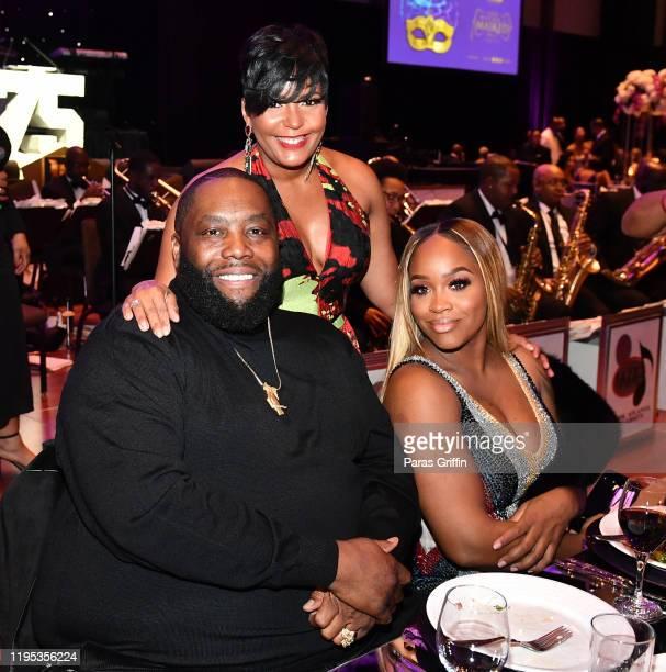 Killer Mike Atlanta Mayor Keisha Lance Bottoms and Shana Render attend 36th Annual Atlanta UNCF Mayor's Masked Ball at Atlanta Marriott Marquis on...