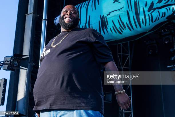 Killer Mike of Run The Jewels performs during day 1 of Mo Pop Festival at Detroit Riverfront on July 29 2017 in Detroit Michigan