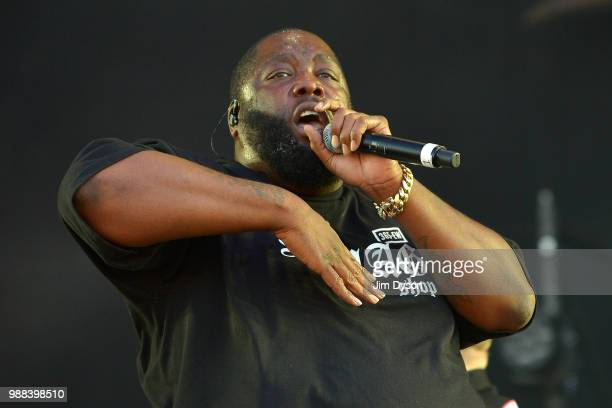 Killer Mike of Run The Jewels performs live on stage at Finsbury Park on June 30 2018 in London England