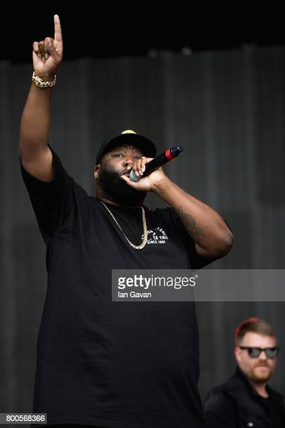 Killer Mike of Run the Jewels performs on day 3 of the Glastonbury Festival 2017 at Worthy Farm Pilton on June 24 2017 in Glastonbury England