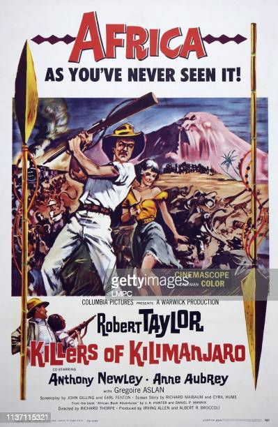 Killers Of Kilimanjaro poster US poster from left Robert Taylor Anne Aubrey 1959