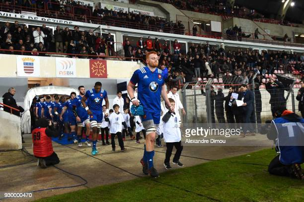 Killian Geraci Captain of France during the RBS Six Nations match between France and England at Stade de la Mediterranee on March 9 2018 in Beziers...