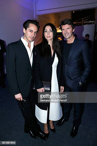 Killian Hennessy CEO of Mazarine Group and Founder of 'Studio des Acacias' PaulEmmanuel Reiffers and his wife Margaux attend the Annual Charity...