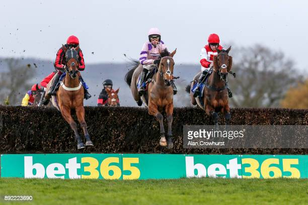 Killian Moore riding Kelvingrove on their way to winning The Dave Criddle Travel Bristol Airport Steeple Chase at Taunton racecourse on December 14...
