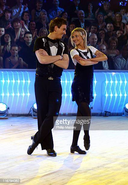 Killian O'Sullivan and Nicola Byrne during Celebrity Jigs n Reels New Year's Eve 2007 Special at Ardmore Studios in Wicklow Bray Ireland