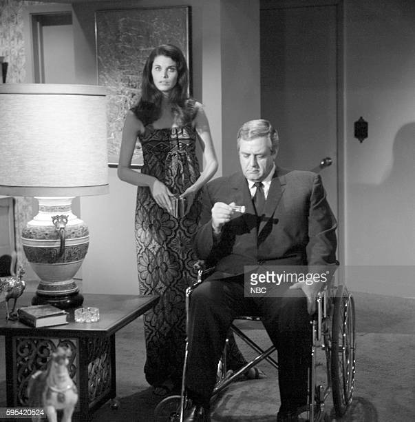 IRONSIDE 'A Killing at the Track' Episode 18 Pictured Sherry Lansing as Marcia Yeager Raymond Burr as Robert T Ironside