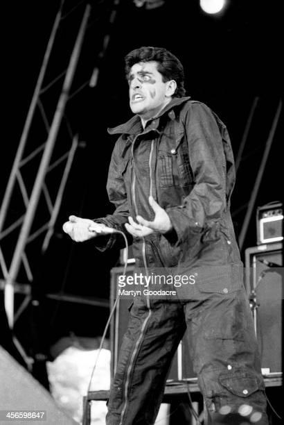 Killing Joke singer Jaz Coleman performs on stage, Finsbury Park, London , United Kingdom, 1st June 1991.