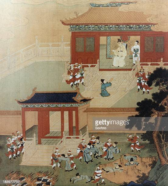 Killing of Confucian scholars by order of Emperor Qin Shi Huang Ti Painting