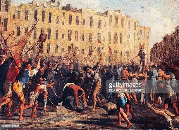 Killing of Father Giuseppe Carafa July 10 by Domenico Gargiulo Masaniello Revolt Italy 17th century