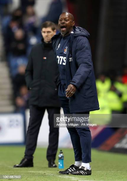 Kilmarnock assistant manager Alex Dyer on the touchline