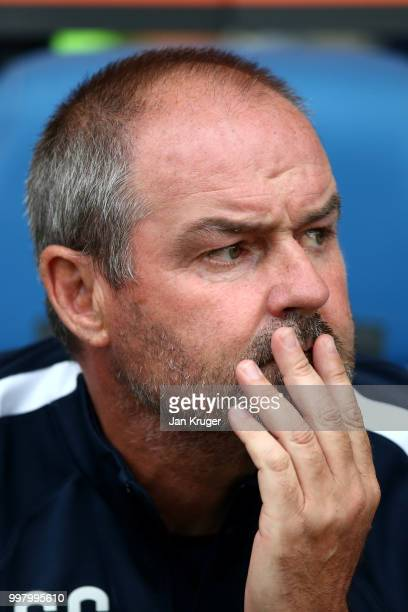Kilmarnock FC manager Steve Clarke looks on during the Betfred Scottish League Cup match between Kilmarnock and St Mirren at Rugby Park on July 13...