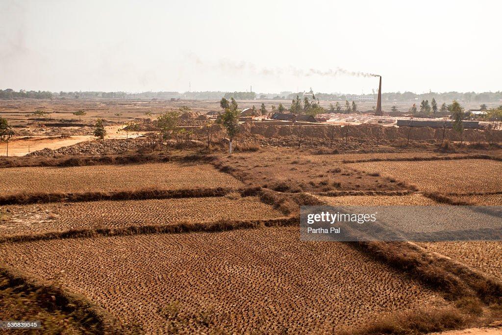 Kiln in Chhota Nagpur Plateau, Brick making : Stock-Foto