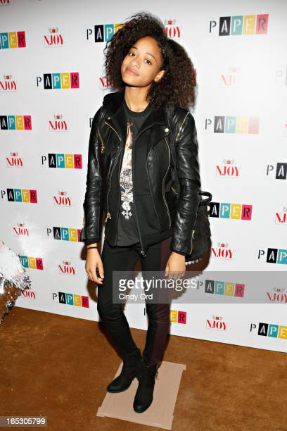 Kilo Kish attends Paper Magazine's 16th Annual Beautiful People Party at Top of The Standard Hotel on April 2 2013 in New York City