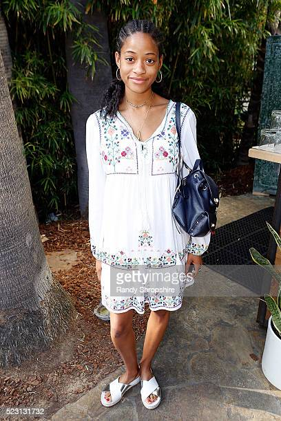 Kilo Kish attends the Villoid garden tea party hosted by Alexa Chung at the Hollywood Roosevelt Hotel on April 21 2016 in Hollywood California
