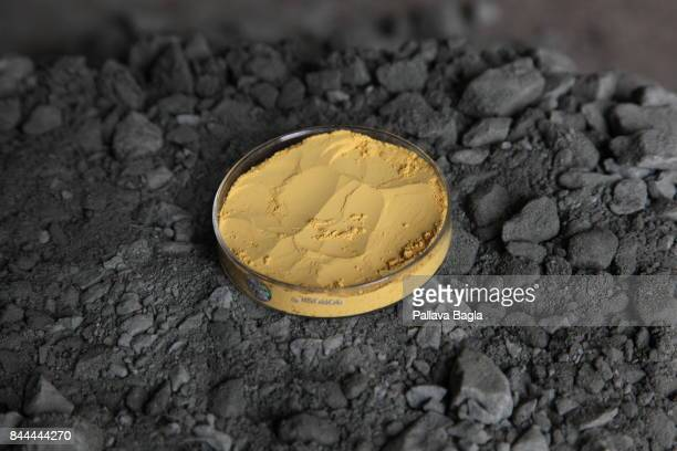 JADUGODA JHARKAHND INDIA SEPTEMBER 03 A 100 kilogram of uranium ore gives merely 37 grams of Yellow cake in Indias mine as the ore is very lean...
