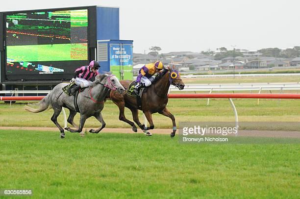 Kilowatt ridden by Daniel Moor wins Sungold Milk BM70 Handicap at Warrnambool Racecourse on December 27, 2016 in Warrnambool, Australia.