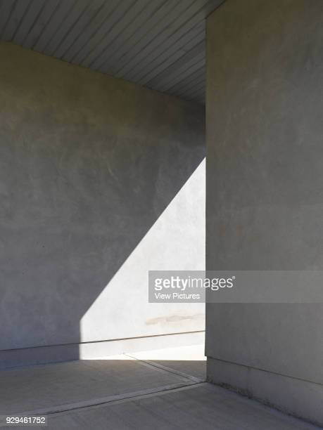 Kilreekil School view of shelter showing shadow Rural Galway Schools Kilreekel Rosmuc Ireland Architect paul dillon architects 2016