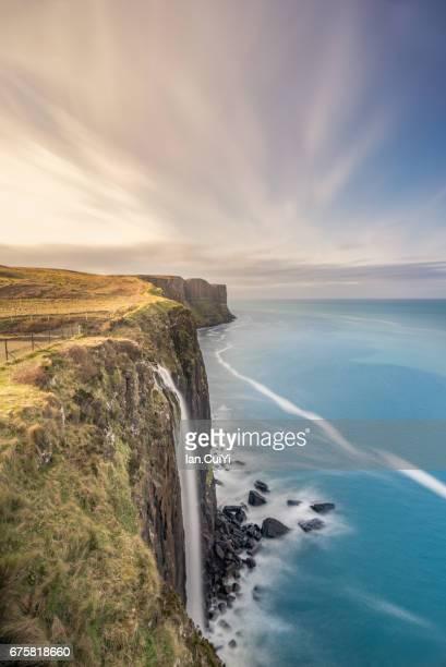 Kilt Rock and Mealt Falls in Isle of Skye