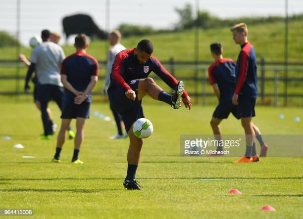 Kilternan Ireland 31 May 2018 Cameron CarterVickers during USA Training at Wayside Celtic in Kilternan Co Dublin