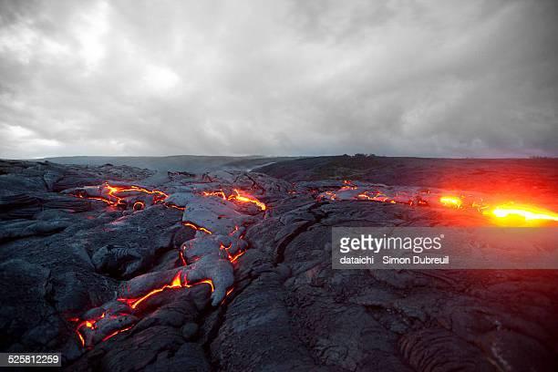 Kiluea volcano lava flows