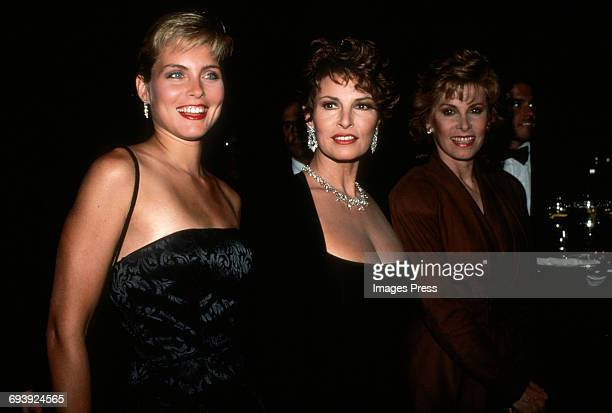 Kim Alexis Raquel Welch and Stephanie Powers attend the Night of 100 Stars III AfterParty circa 1990 in New York City