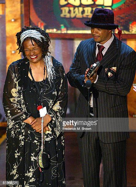 Kim and Damon Wayans accept their award for BET Comedy Icon Award onstage at the FirstEver BET Comedy Awards at the Pasadena Civic Auditorium...