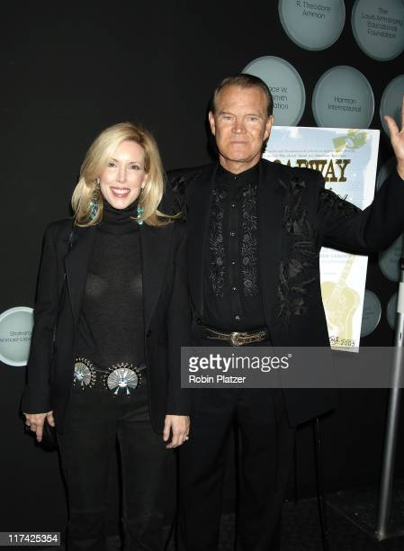 Kim and Glen Campbell during Country Takes New York City - Broadway Meets Country - Outside Arrivals at Allen Room, Jazz at Lincoln Center in New...