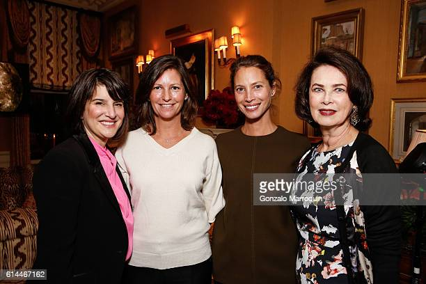 Kim Azzarelli Kelly Burns Christy Turlington Burns and Dayle Haddon at the WomenOne Dinner on October 13 2016 in New York City