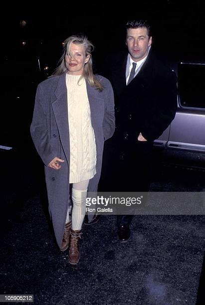 Kim Basinger and Alec Baldwin during Alec Baldwin and Kim Basinger Sighting at Elaine's Restaurant January 10 1995 at Elaine's Restaurant in New York...