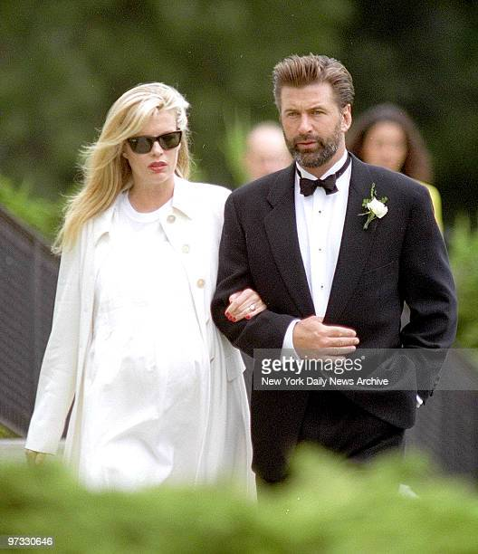 Kim Basinger and Alec Baldwin enter church where Chynna Phillips weds Billy Baldwin on Long Island about 250 people attend the one hour ceremony at...