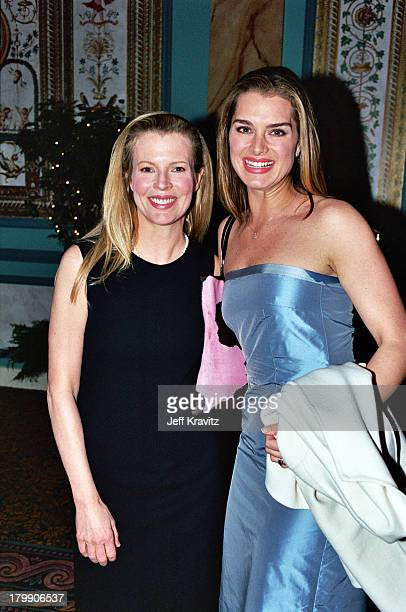 Kim Basinger and Brook Shields during 2000 NATO/Showest Convention at Paris Hotel in Las Vegas, Nevada, United States.