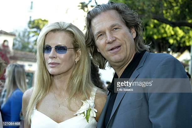Kim Basinger and Jeff Bridges during 'The Door In The Floor' Premiere Red Carpet at Lobero Theatre in Santa Barbara California United States
