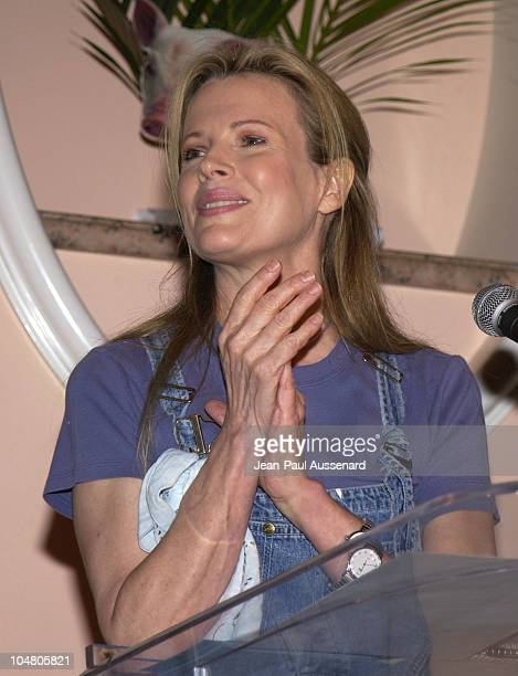 Kim Basinger during Farm Sanctuary Gala 2002 'Emmys For Animals' at Beverly Hills Hotel in Beverly Hills California United States