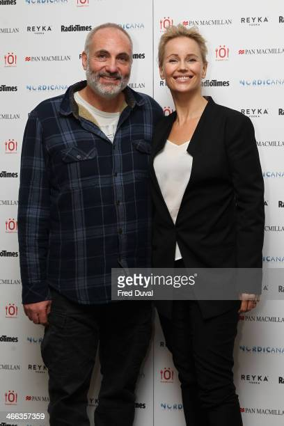Kim Bodnia and Sofia Helin attend Nordicana 2014 at Old Truman Brewery on February 1 2014 in London England
