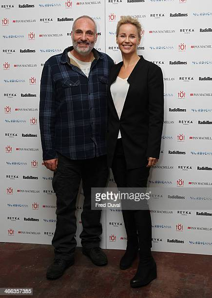 Kim Bodnia and Sofia Helin attend Nordicana 2014 at Old Truman Brewery on February 1, 2014 in London, England.