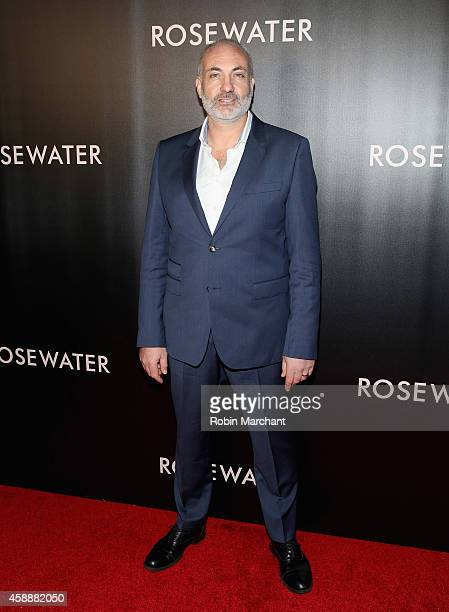 Kim Bodnia attends Rosewater New York Premiere at AMC Lincoln Square Theater on November 12 2014 in New York City