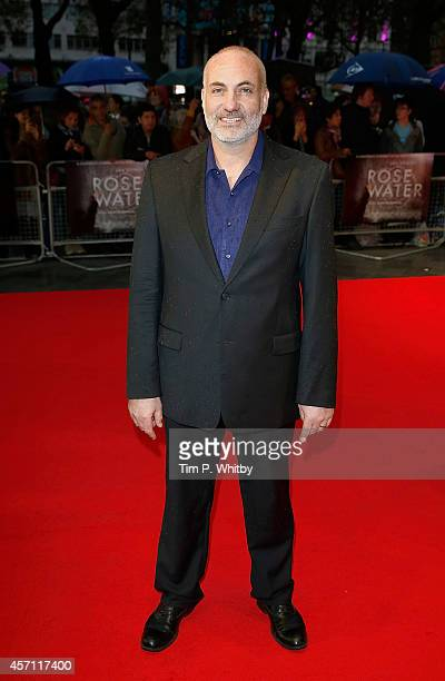 """Kim Bodnia attends the red carpet arrivals of """"Rosewater"""" during the 58th BFI London Film Festival at Odeon West End on October 12, 2014 in London,..."""