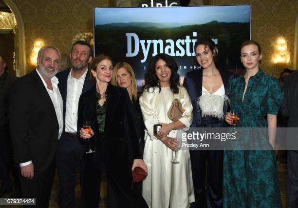 Kim Bodnia Lee Morris Sally Woodward Gentle Guest Sarah Barnett Phoebe WallerBridge and Jodie Comer attend The BAFTA Los Angeles Tea Party at Four...