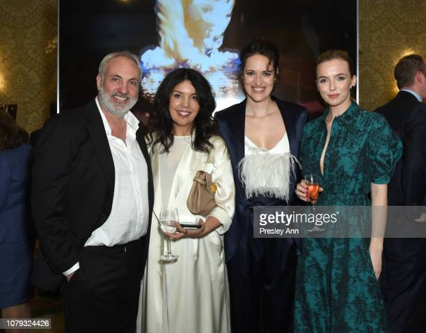 Kim Bodnia, Sarah Barnett, Phoebe Waller-Bridge and Jodie Comer attend The BAFTA Los Angeles Tea Party at Four Seasons Hotel Los Angeles at Beverly...