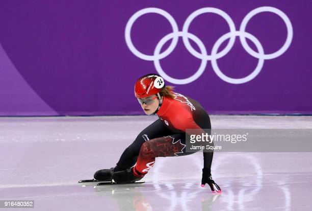 Kim Boutin of Canada competes during the Ladies' 500m Short Track Speed Skating qualifying on day one of the PyeongChang 2018 Winter Olympic Games at...