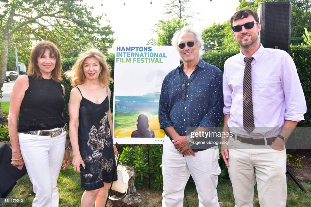 Kim Brizzolara, April Gornik, Eric Fischl, and David Nugent attend the The Hamptons International Film Festival SummerDocs Series Screening of WHITNEY. 'CAN I BE ME' at UA Southampton 4 Theatres on August 17, 2017 in Southampton, New York.