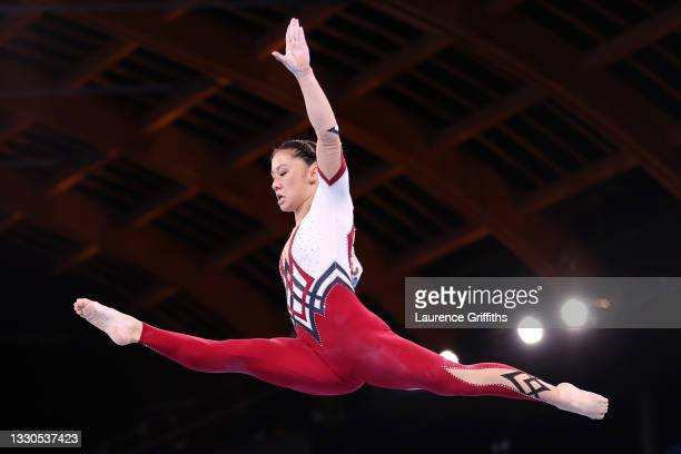Kim Bui of Team Germany competes on balance beam during Women's Qualification on day two of the Tokyo 2020 Olympic Games at Ariake Gymnastics Centre...