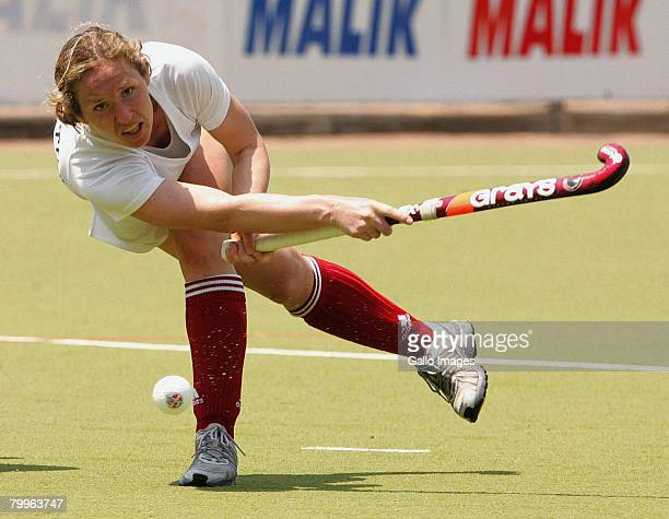 Kim Buker in action during the Women's International friendly hockey match between South Africa and Canada held at theTshwane University of...