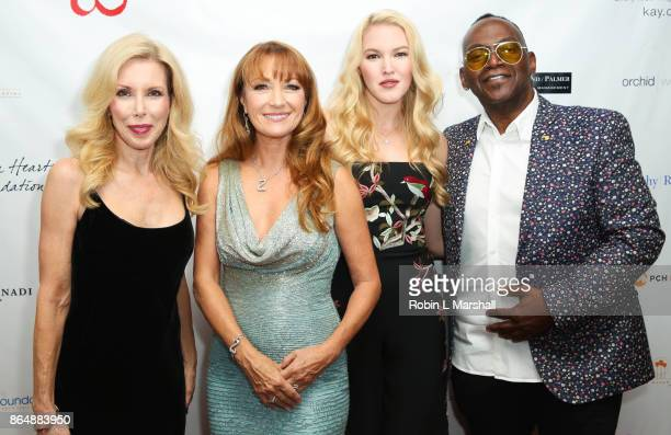 Kim Campbell Actress /Philanthropist Jane Seymour Ashley Campbell and Randy Jackson attend the 2017 Open Hearts Gala at SLS Hotel on October 21 2017...