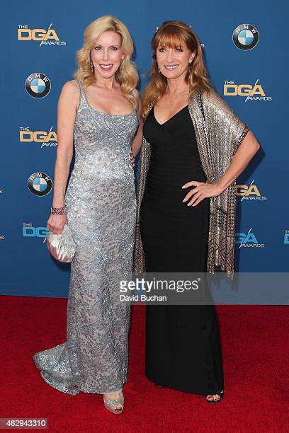 Kim Campbell and actress Jane Seymour attend the 67th Annual Directors Guild Of America Awards at the Hyatt Regency Century Plaza on February 7 2015...
