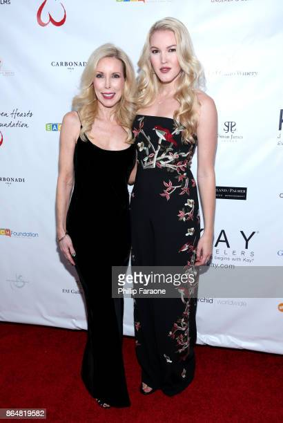 Kim Campbell and Ashley Campbell at Jane Seymour And The 2017 Open Hearts Gala at SLS Hotel on October 21 2017 in Beverly Hills California