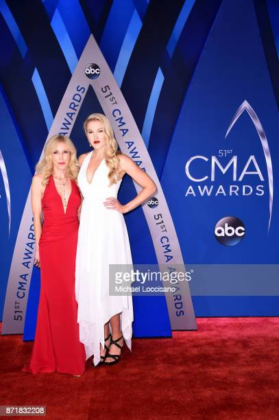Kim Campbell and Ashley Campbell attend the 51st annual CMA Awards at the Bridgestone Arena on November 8 2017 in Nashville Tennessee