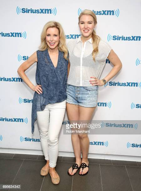 Kim Campbell and Ashley Campbell visit at SiriusXM Studios on June 13, 2017 in New York City.
