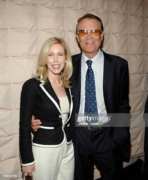 Kim Campbell and Glen Campbell attend the Pacific Pioneer Broadcasters Luncheon honoring Glen Campbell for his 45 years in show business at the...